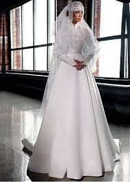 islamic wedding dresses buy discount gorgeous satin tulle high collar a line arabic