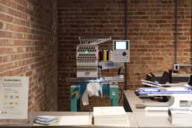muji u0027s fifth avenue flagship has an embroidering station