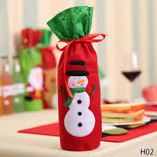 Christmas Decor For Home 1pc Christmas Decorations For Home Santa Claus Wine Bottle Cover