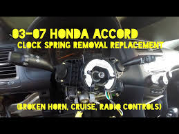 2004 honda accord airbag how to replace clock cable reel on 2003 2007 honda accord