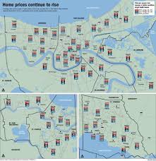 Map Of New Orleans Area by Why New Orleans Area Home Prices Continued Climbing In 2015