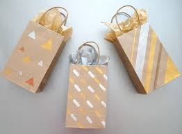 metallic gift bags painted diy gift bags with metallic flair