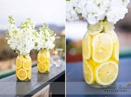 jar centerpieces sliced lemon in jar centerpieces budget brides guide a
