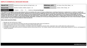 commercial manager cover letter u0026 resume