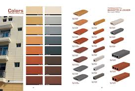 terracotta panels and louvers color chart architectural stone