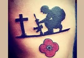 fallen soldier tribute tattoo veteran ink