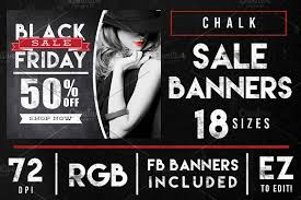 black friday banner chalk black friday sales banner ads web elements creative market