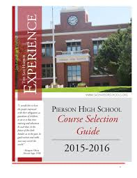 2015 2016 pierson high course selection guide by sag harbor