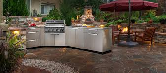 Outdoor Kitchen Stainless Steel Cabinets Outdoor Kitchen Cabinets Inspirations Also Weatherproof Picture