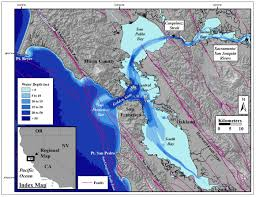 Map Of Greater San Francisco Area by Travels With Sediment In The San Francisco Bay Delta And Coastal