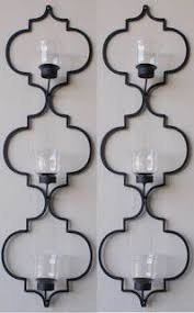 Wall Candle Sconces With Glass Wrought Iron Wall Candle Holders Foter Southwestern Spanish