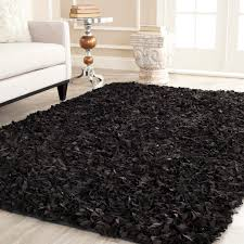 Safavieh Leather Shag Rug Bedroom Ideas Safavieh Knotted Black Leather Shag Area Rugs