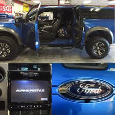 ford raptor came in looking for the 9 inch alpine with navigation