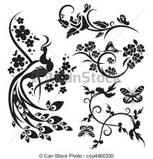 ornament sets vector clipart search illustration