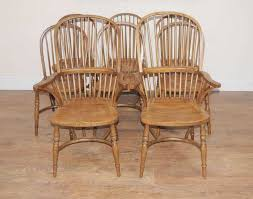 Oak Spindle Back Dining Chairs 8 Oak Kitchen Dining Chairs Farmhouse Chair Ebay