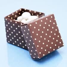 polka dot boxes brown polka dots square favor box 10 pcs brown wedding favor
