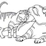 dog cat coloring pages printable kids colouring gekimoe u2022 118420