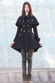 cape coat capelet coat double breasted coat plus size coat