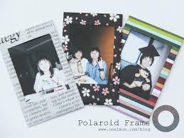 cara membuat album foto di blog wordpress diy polaroid frame onelmon