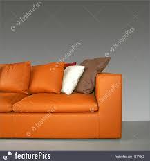 orange sofa picture