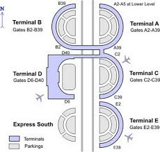 Map Of Dfw Dfw Airport Gate Map
