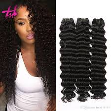 Curly Fusion Hair Extensions by Cheap Malaysian Water Deep Wave Hair Weave Natural Color Fusion