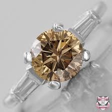 brown diamond engagement ring vintage diamond engagement rings 2 01ct fancy brown diamond ring