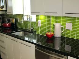 lime green l shade green kitchen tile backsplash kitchen small l shape black black
