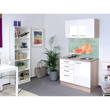 miniküche flex well exclusiv miniküche valero 100 cm hochglanz weiß sonoma