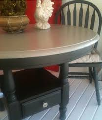 Oak Table And Chairs Faux Get Me Nots Round Kitchen Table And Chairs Painted With