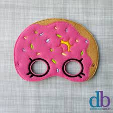 felt embroidered mask donut mask kid u0026 creative
