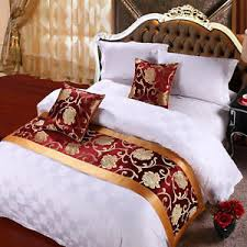 bed runners yazi bed runner two layers bedding decoration mat flag peony home