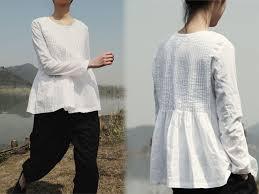 linen blouses 167pintucked white linen blouse handmade linen blouse