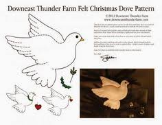 dove of felt templates silhouette pattern moldes pinterest