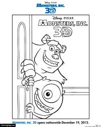 monsters university coloring pages ecoloringpage