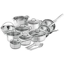 black friday pan set amazon com cuisinart 77 11g chef u0027s classic stainless 11 piece