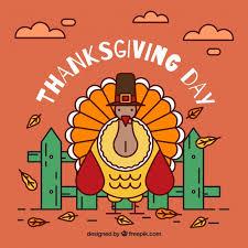 thanksgiving turkey background vector free