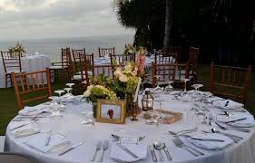 wedding centerpieces for round tables the ungasan villas customize wedding package bali shuka wedding