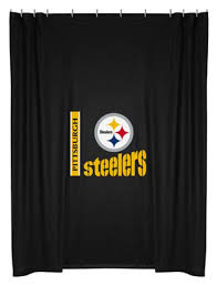 Nfl Shower Curtains Nfl Pittsburgh Steelers Licensed Shower Curtain Altmeyer S