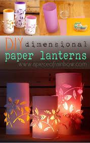 diy dimensional paper lantern 2 paper lanterns rainbows