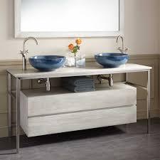 contemporary vessel sink vanity bathroom 60 in bathroom vanity light modern on throughout roeding