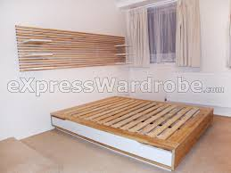 bedroom cool footboard made with ikea storage shelves creative