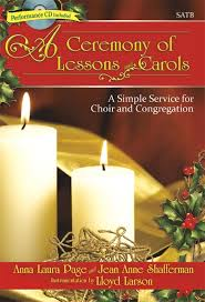 a ceremony of lessons and carols satb score with cd sheet