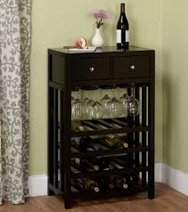 liquor cabinet wine storage buffet table mini bar with bottles