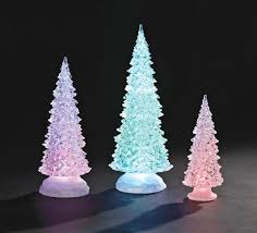 lighted tree trio set in acrylic 12 5 from catholic