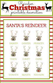 santa u0027s reindeer specimen art printable decoration capturing joy