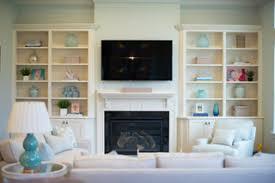 Fireplace With Built In Cabinets Custom Built In Styling In A Jacksonville Florida Home