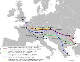 Eurostar Route Map by Orient Express U2013 Travel Guide At Wikivoyage