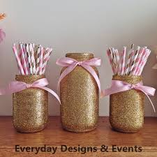 Pink And Gold Baby Shower Decorations by Pink And Gold Mason Jar Set Pink And Gold Baby Shower Pink And