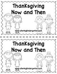 now and then thanksgiving reader thanksgiving kindergarten and